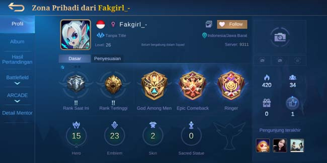 150+ Akun Mobile Legends (ML) Sultan Gratis Terbaru Desember 2020