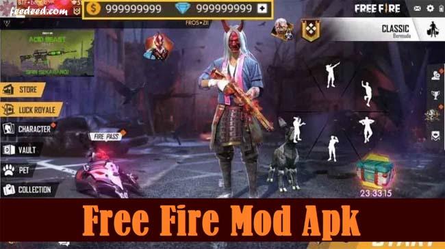 Download FF Free Fire Mod Apk Unlimited Diamond Versi Terbaru 2020