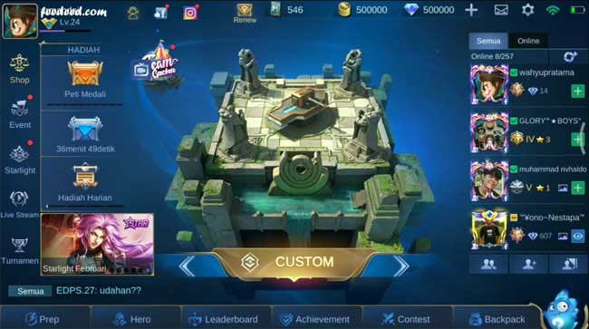 Mobile Legends Mod Apk Unlimited Diamond Versi Terbaru 2020