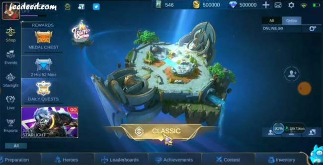 Mobile Legends ML Mod Apk Unlimited Diamond Versi Terbaru 2020