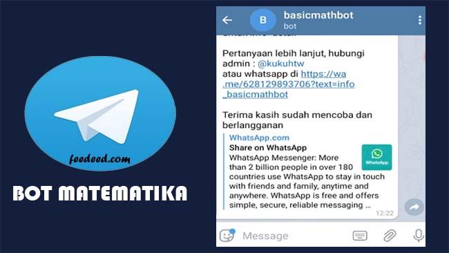 Bot Matematika Telegram, Begini Cara Menggunakanya (Mudah)