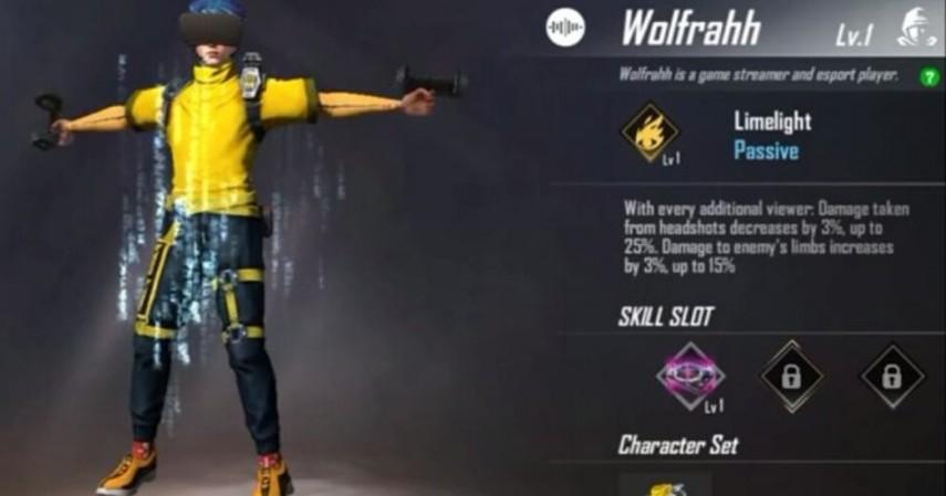 Karakter Free Fire - Wolfrahh
