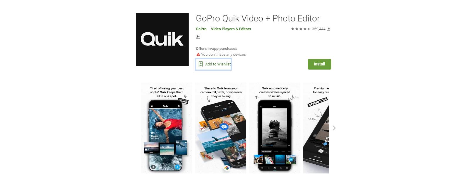Aplikasi Edit Video Android Offline Quik Video