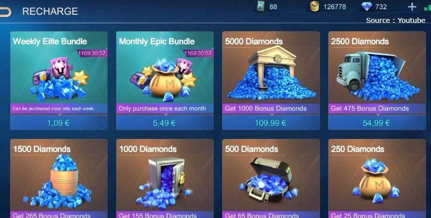 diamond gratis ML