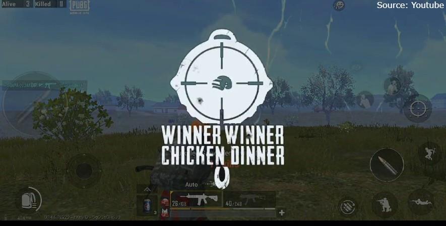 chicken dinner PUBG
