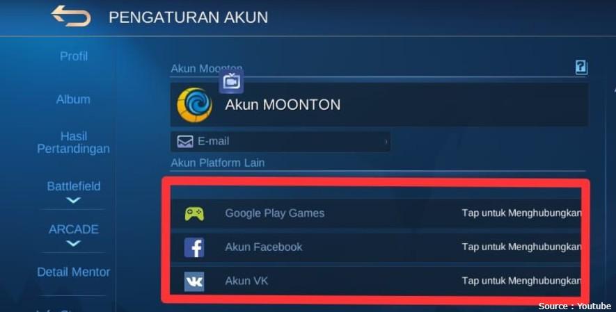 akun fb ml sultan